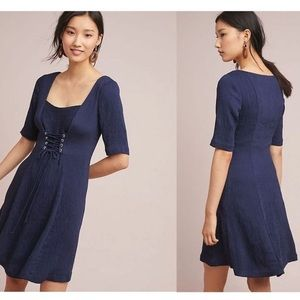 🆕NWT Anthropologie ribbed corseted dress